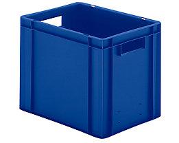 Euro-Format-Stapelbehälter, Wände und Boden geschlossen - LxBxH 400 x 300 x 320 mm - blau, VE 5 Stk