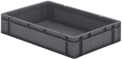 Euro-Format-Stapelbehälter, Wände und Boden geschlossen - LxBxH 600 x 400 x 120 mm