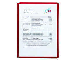 Durable Klarsichttafel mit Profilrahmen - für DIN A4, VE 10 Stk - rot, ab 3 VE