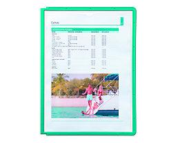 Durable Klarsichttafel mit Profilrahmen - für DIN A4, VE 10 Stk - grün, ab 3 VE