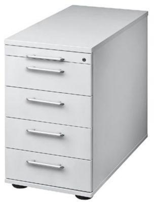 Standcontainer, höhenverstellbar - 1 Utensilienschub, 4 Schubladen