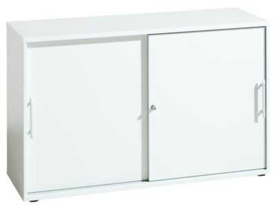 FINO Schiebetürenschrank - je 1 Fachboden, 1 Trennwand, HxBxT 748 x 1200 x 400 mm