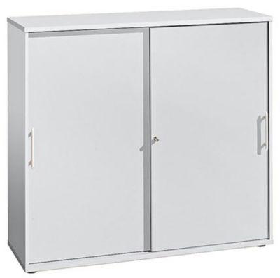 FINO Schiebetürenschrank - je 2 Fachböden, 1 Trennwand, HxBxT 1100 x 1200 x 400 mm