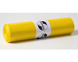 Sacs plastique - capacité 120 l, l x h 700 x 1100 mm - épaisseur 55 µm, lot de 250, jaune
