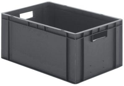Euro-Format-Stapelbehälter, Wände und Boden geschlossen - LxBxH 600 x 400 x 266 mm