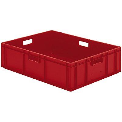 Euro-Format-Stapelbehälter, Wände und Boden geschlossen - LxBxH 800 x 600 x 210 mm - blau, VE 2 Stk