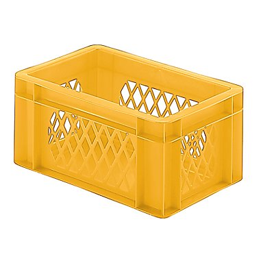 Euro-Format-Stapelbehälter, Wände durchbrochen, Boden geschlossen - LxBxH 300 x 200 x 145 mm