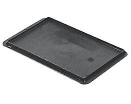 Auflagedeckel für Stapelbehälter - VE 4 Stück, LxB 300 x 200 mm - grau