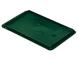 Auflagedeckel für Stapelbehälter - VE 4 Stück, LxB 300 x 200 mm - grün