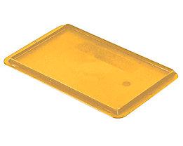 Auflagedeckel für Stapelbehälter - VE 4 Stück, LxB 300 x 200 mm - gelb