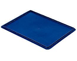 Auflagedeckel für Stapelbehälter - VE 4 Stück, LxB 400 x 300 mm - blau