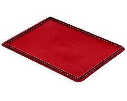 Auflagedeckel für Stapelbehälter - VE 4 Stück, LxB 400 x 300 mm - rot
