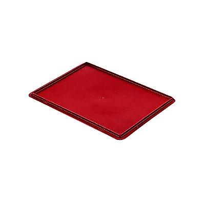 Auflagedeckel für Stapelbehälter - VE 4 Stück, LxB 400 x 300 mm - schwarz
