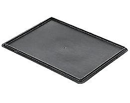 Auflagedeckel für Stapelbehälter - VE 4 Stück, LxB 400 x 300 mm - grau