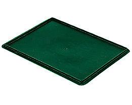 Auflagedeckel für Stapelbehälter - VE 4 Stück, LxB 400 x 300 mm - grün