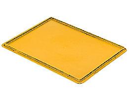 Auflagedeckel für Stapelbehälter - VE 4 Stück, LxB 400 x 300 mm - gelb