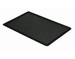 Auflagedeckel für Stapelbehälter - VE 4 Stück, LxB 600 x 400 mm - schwarz