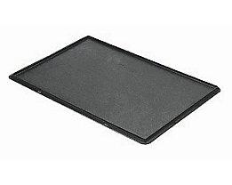 Auflagedeckel für Stapelbehälter - VE 4 Stück, LxB 600 x 400 mm - grau