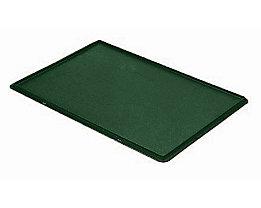 Auflagedeckel für Stapelbehälter - VE 4 Stück, LxB 600 x 400 mm - grün
