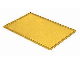 Auflagedeckel für Stapelbehälter - VE 4 Stück, LxB 600 x 400 mm - gelb