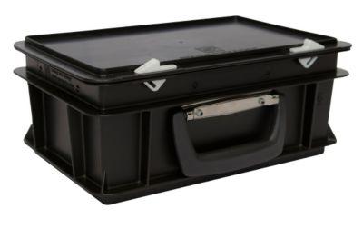 ESD-Kunststoffkoffer - Inhalt 5 l, Außenmaß LxBxH 300 x 200 x 130 mm