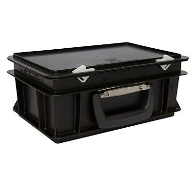 ESD-Kunststoffkoffer - Inhalt 5 l, Außenmaß LxBxH 300 x 200 x 130 mm - ab 1 Stück