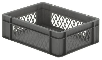 Euro-Format-Stapelbehälter, Wände durchbrochen, Boden geschlossen - LxBxH 400 x 300 x 120 mm