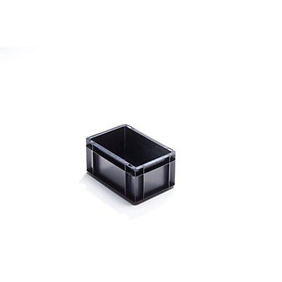ESD-Stapelbehälter aus Polypropylen - Außen-LxBxH 300 x 200 x 145 mm - Inhalt 5,5 l, VE 8 Stk