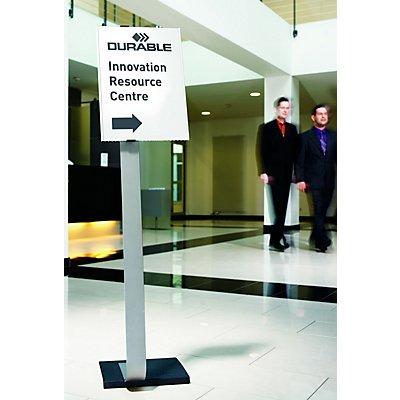durable panneau sur pied avec tableau d 39 affichage en aluminium. Black Bedroom Furniture Sets. Home Design Ideas