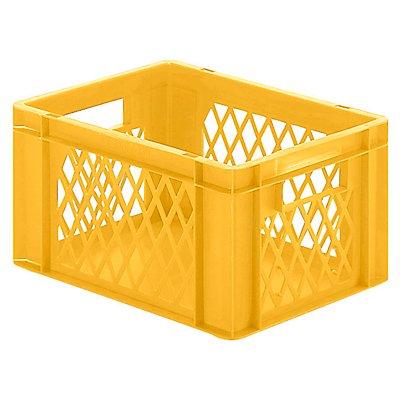Euro-Format-Stapelbehälter, Wände durchbrochen, Boden geschlossen - LxBxH 400 x 300 x 210 mm