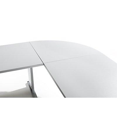 Wellemöbel VERA Verkettung - 90°, für Schreibtisch mit 4-Fuß- und C-Fuß-Gestell