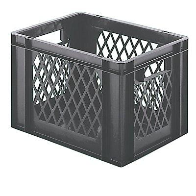 Euro-Format-Stapelbehälter, Wände durchbrochen, Boden geschlossen - LxBxH 400 x 300 x 266 mm