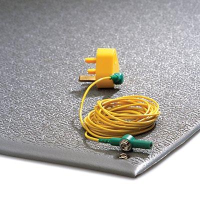 COBA Anti-Ermüdungsmatte, ableitend - mit Erdungskabel, Zuschnitt - Breite 900 mm, pro lfd. m