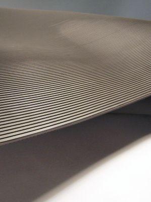 Matte aus Naturgummi, isolierend - Breite 1000 mm, Zuschnitt pro lfd. m - grau