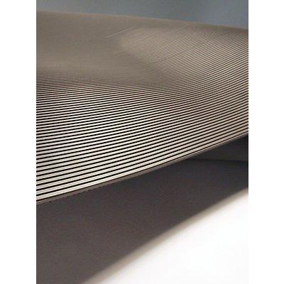 COBA Matte aus Naturgummi, isolierend - Breite 1000 mm, Zuschnitt pro lfd. m - grau
