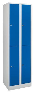 Garderobenschrank in Komfort-Größe - 4 Abteile, Abteilbreite 400
