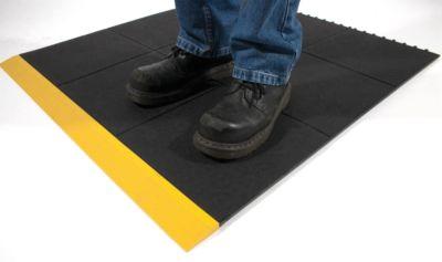 Arbeitsplatzbodenbelag, schwarz - Ausführung geschlossen - Höhe 17 mm