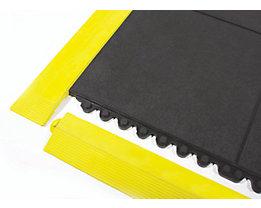 COBA Auffahrkante, gelb - aus Nitrilgummi, Länge 900 mm - mit Verbindungselementen