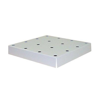 Lochblechabdeckung für Bodenauffangwanne, BxTxH 439 x 420 x 60 mm