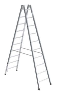 Sicherheits-Sprossenleiter, beidseitig begehbar - Sprossen 30 x 30 mm, rutschsicher