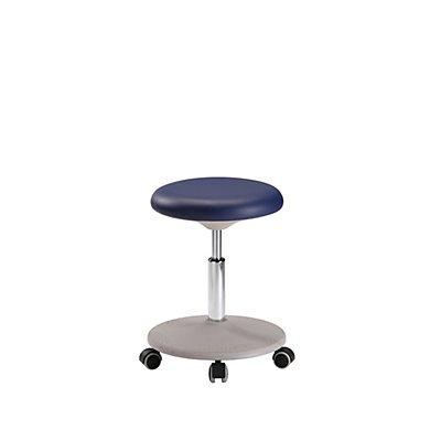 bimos Labor-Arbeitshocker, Höhenverstellbereich 460 – 650 mm - Sitzpolster aus Kunstleder