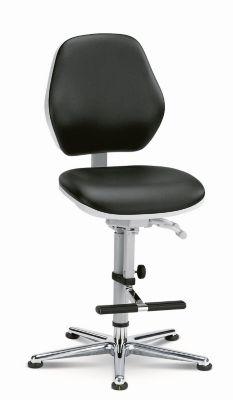 bimos Reinraum-Arbeitsstuhl - mit Gleitern und Aufstieghilfe