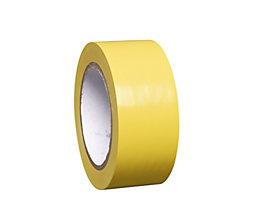 MORAVIA Bodenmarkierungsband aus Vinyl, einfarbig - Breite 50 mm - gelb, VE 8 Rollen