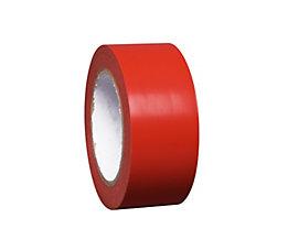 MORAVIA Bodenmarkierungsband aus Vinyl, einfarbig - Breite 50 mm - rot, VE 8 Rollen