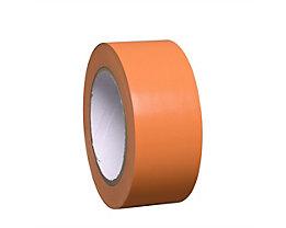 MORAVIA Bodenmarkierungsband aus Vinyl, einfarbig - Breite 50 mm - orange, VE 8 Rollen