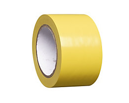MORAVIA Bodenmarkierungsband aus Vinyl, einfarbig - Breite 75 mm - gelb, VE 8 Rollen