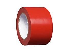 MORAVIA Bodenmarkierungsband aus Vinyl, einfarbig - Breite 75 mm - rot, VE 8 Rollen