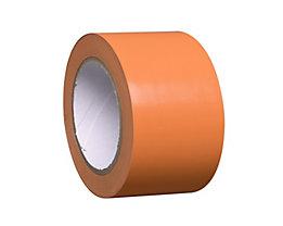 MORAVIA Bodenmarkierungsband aus Vinyl, einfarbig - Breite 75 mm - orange, VE 8 Rollen