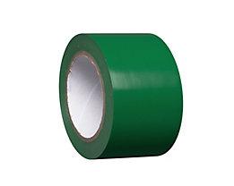 MORAVIA Bodenmarkierungsband aus Vinyl, einfarbig - Breite 75 mm - grün, VE 8 Rollen