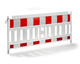 Absperrgitter, Kunststoff mit reflektierender Folie - weiß / rot